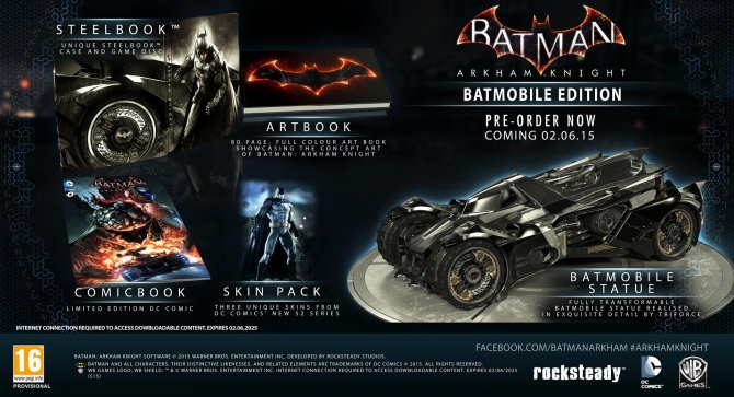 Batman: Arkham Knight Batmobile Edition отменен