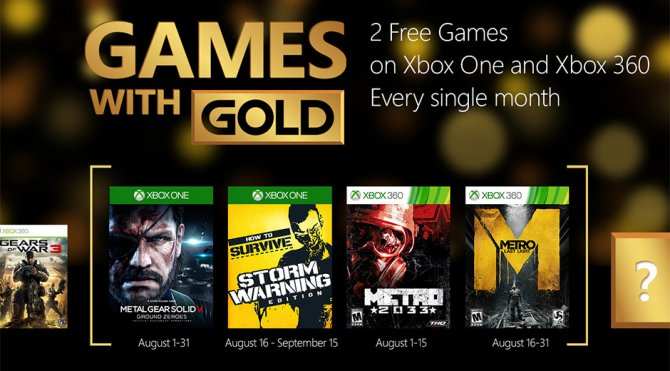 Games with Gold – август 2015 года