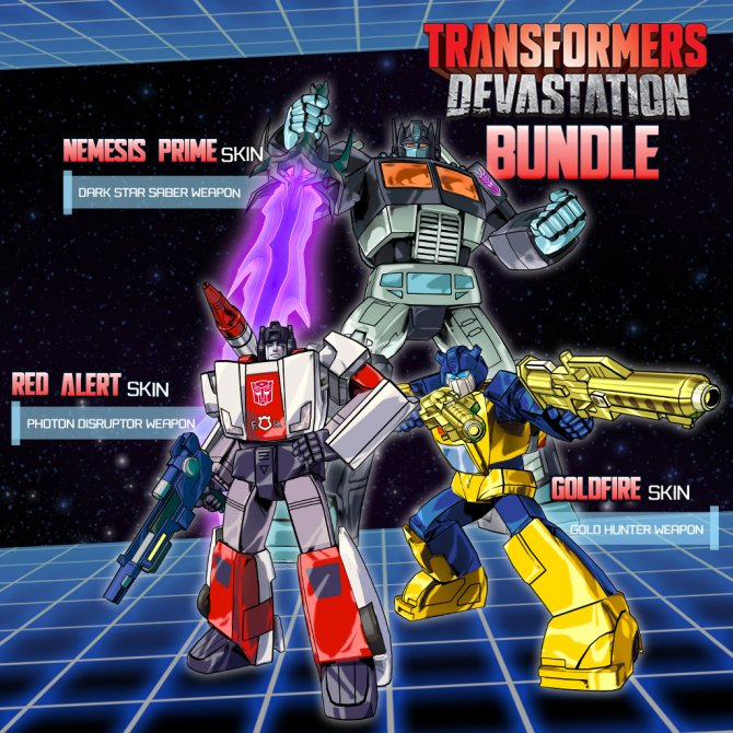 Бонусы за предварительный заказ Transformers: Devastation.