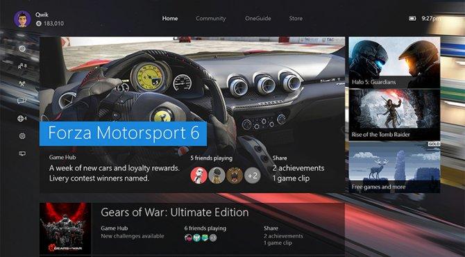 Детали ноябрьского обновления Xbox One
