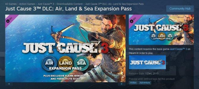Комплект из трех убойных DLC для Just Cause 3