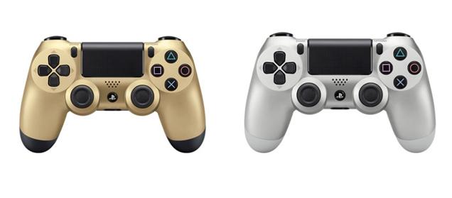 Dualshock 4 в золотом и серебряном цветах