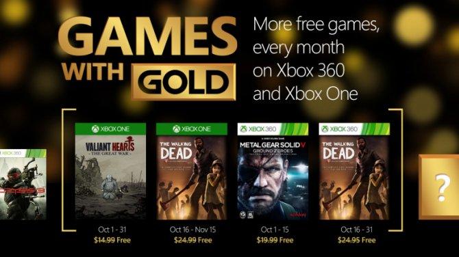 Бесплатные игры для подписчиков Xbox Live Gold в октябре 2015 года