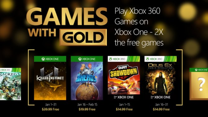 Games With Gold – январь 2016 года