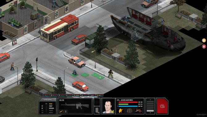 Скриншот с игры Xenonauts