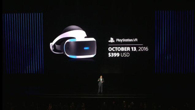 Названа дата релиза PlayStation VR