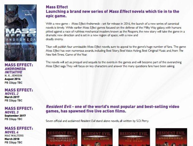 Книги по Mass Effect: Andromeda дадут ответ на самые важные вопросы