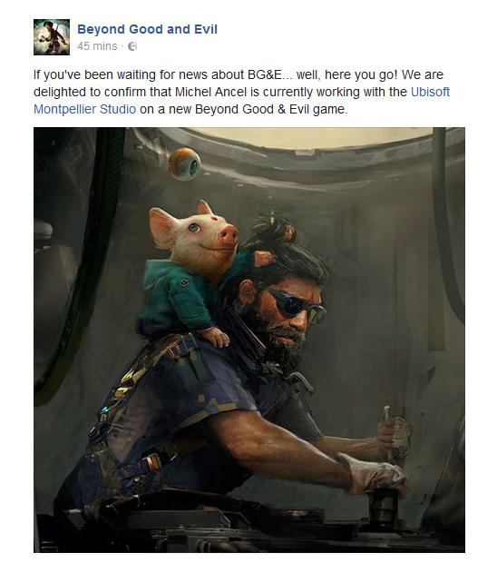 Ubisoft подтвердила разработку новой части Beyond Good & Evil
