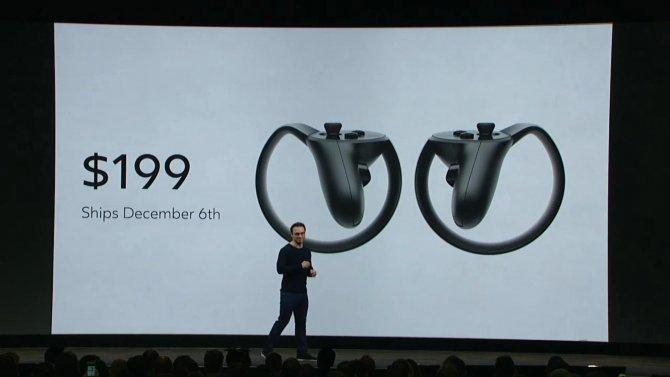 Oculus Touch выйдет в декабре