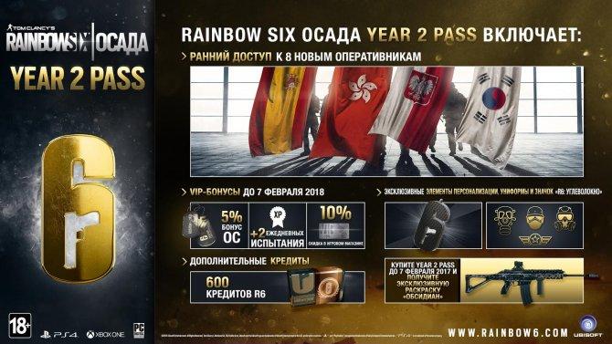 Year 2 Pass для Tom Clancy's Rainbow Six Осада поступил в продажу