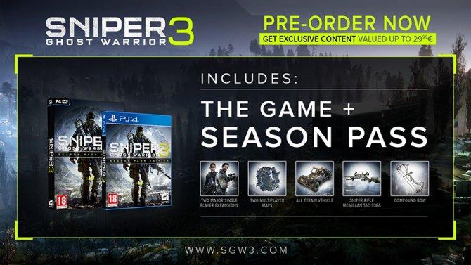 Сезонный пропуск Sniper Ghost Warrior 3 за оформление предзаказа