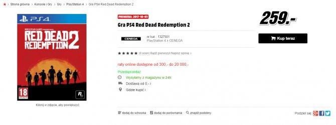 Польский магазин слил дату релиза Red Dead Redemption 2