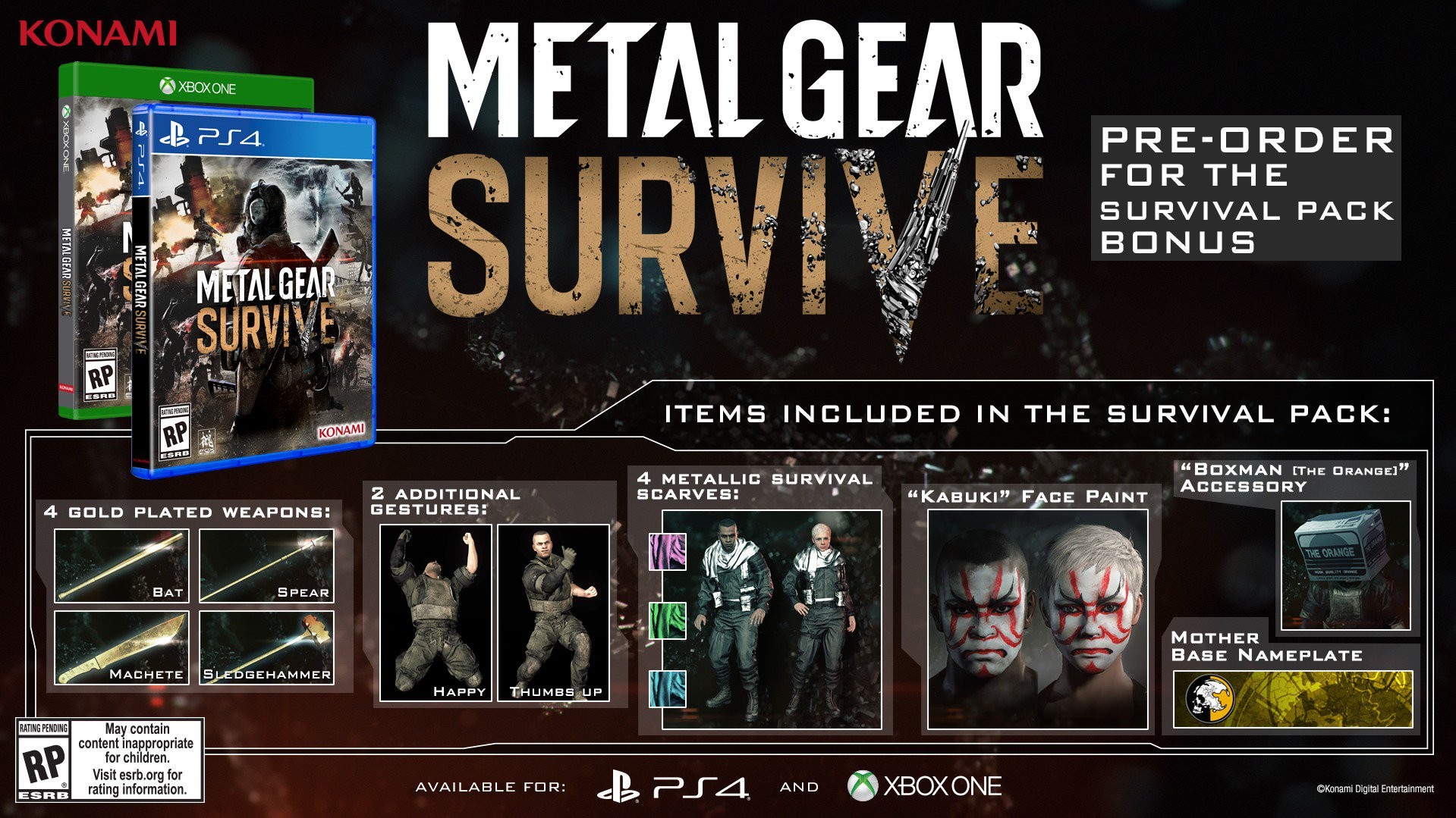 Дата релиза Metal Gear Survive
