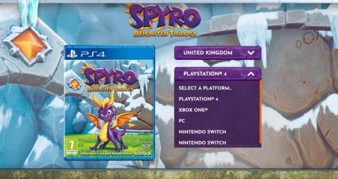 Spyro Reignited Trilogy утечка PC и NSwitch