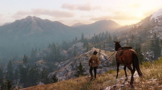 Red Dead Redemption 2 на природе