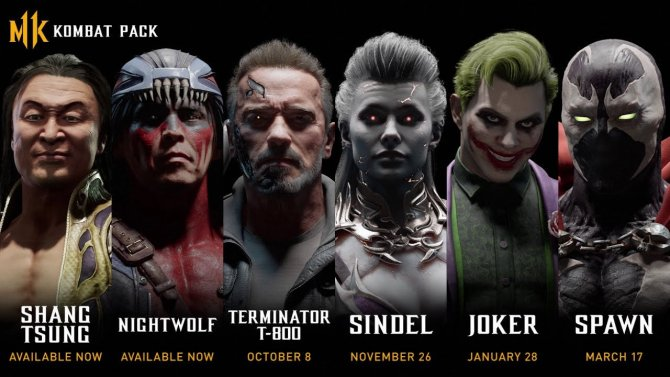 Утечка списка персонажей Kombat Pack для Mortal Kombat 11