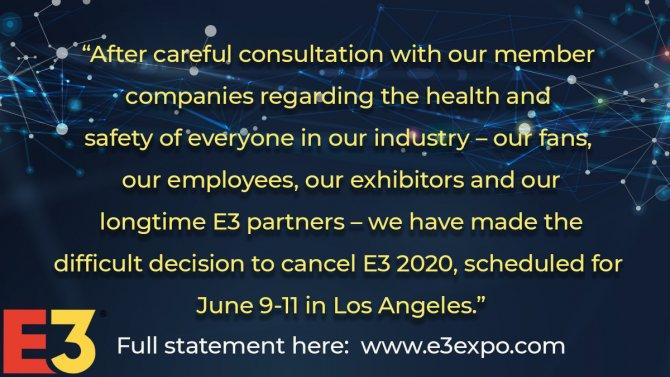E3 2020 отменяется