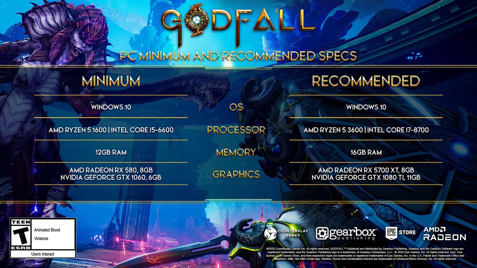 Системные требования Godfall
