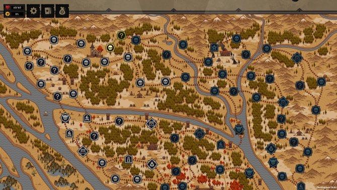 Статичная карта и куча поначалу непонятных значков.