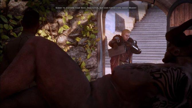 Перед вами одна из самых смешных и неудобных сцен в истории игр. Железный Бык всех удивил своей... харизмой.