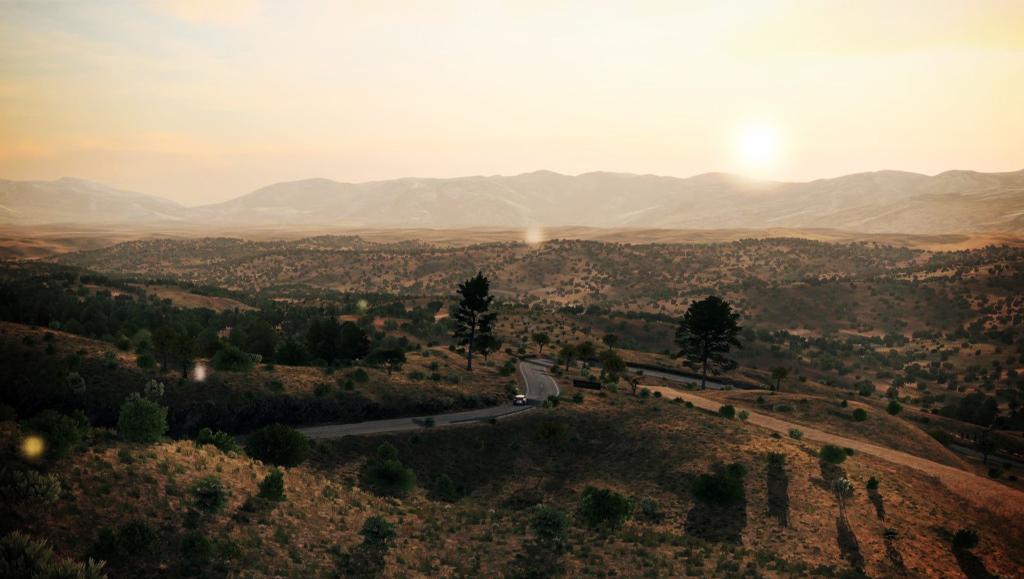 Картинка настолько желтая, что начинаешь думать, что где-то рядом Леон Кеннеди зачищает деревушку с монстрами.