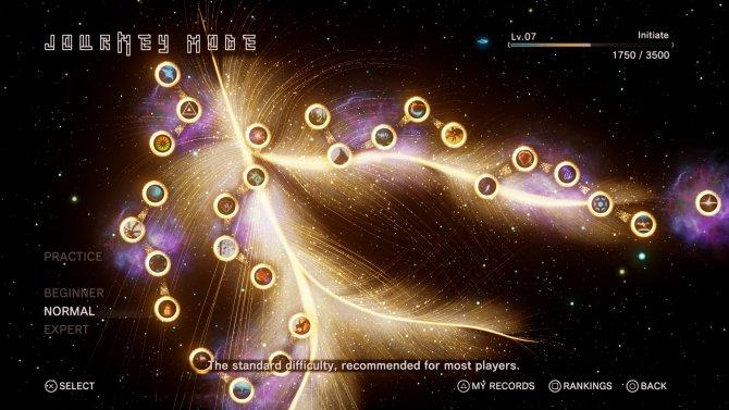 Так выглядит карта уровней режима Journey.