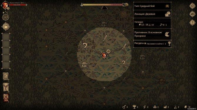 Вот так выглядит описание маркеров с информацией о сложности битвы, типе местности и ресурсах, которые здесь добываются.