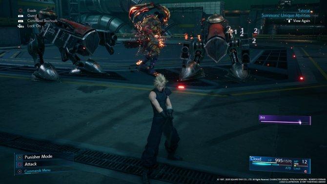 Знакомьтесь, призванный саммон, который крушит механических стражей.