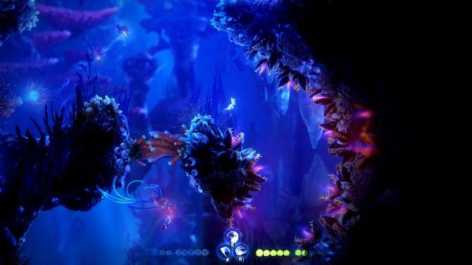 Подводное дыхание спасает на локации, где нужно постоянно плавать.