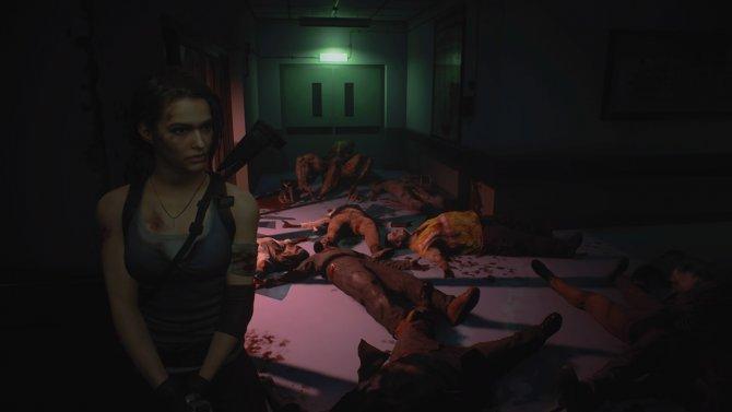 Бойня, которую ранее устроил Карлос, а Джилл лишь идет по его следам.