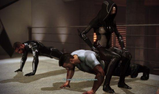 Осторожно, Касуми, спина Джеймса не из стали!