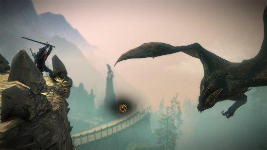 Храбрый Геральт даже от дракона не боится.